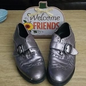 Marc Fisher loafers silver 8.5